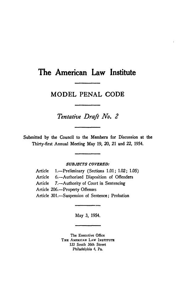 handle is hein.ali/mpc0530 and id is 1 raw text is: The American Law Institute