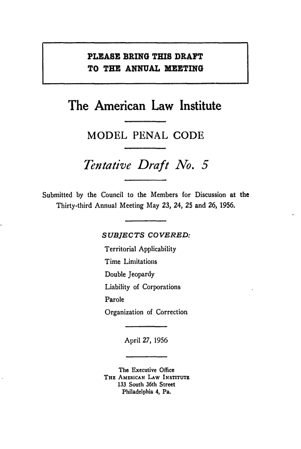 handle is hein.ali/mpc0560 and id is 1 raw text is: PLEASE BRING THIS DRAFT