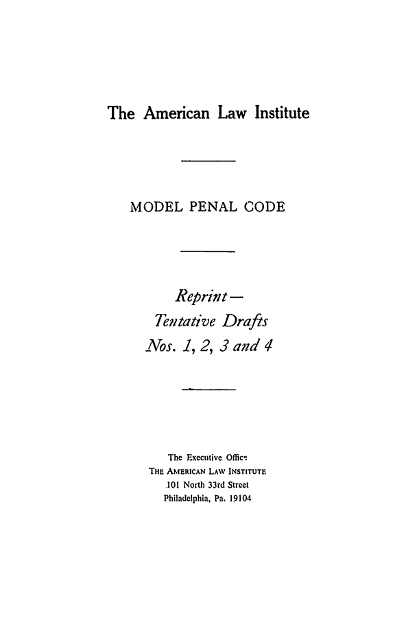 handle is hein.ali/mpc0665 and id is 1 raw text is: The American Law Institute