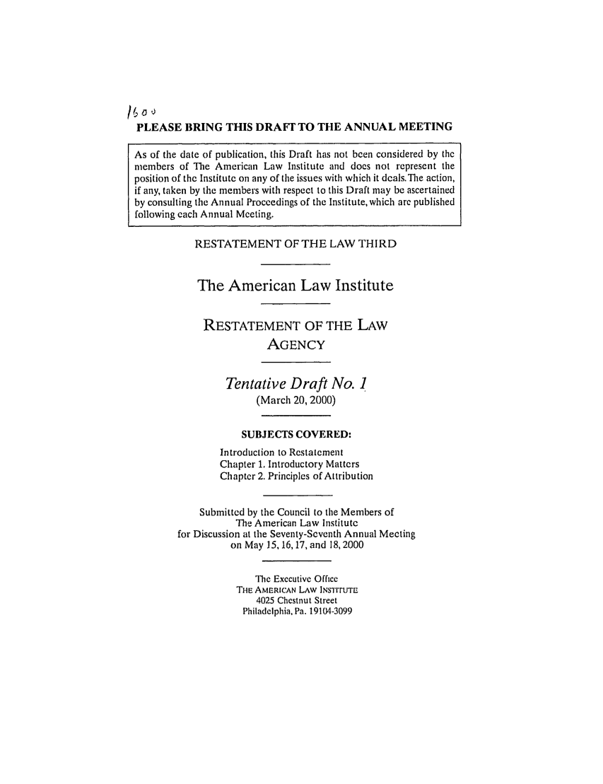 handle is hein.ali/rethrida0015 and id is 1 raw text is: PLEASE BRING THIS DRAFr TO THE ANNUAL MEETING