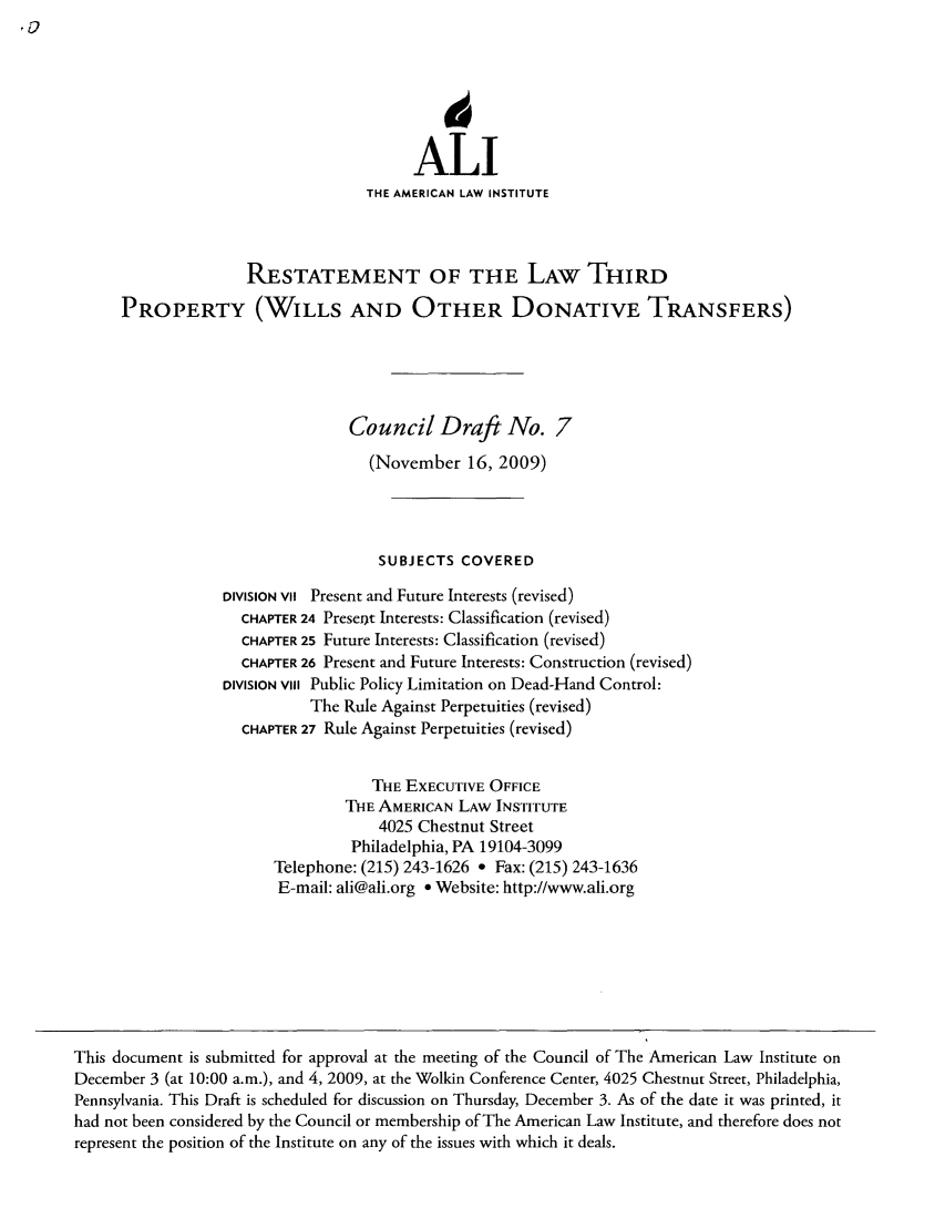 handle is hein.ali/retpwodt0032 and id is 1 raw text is: ALI