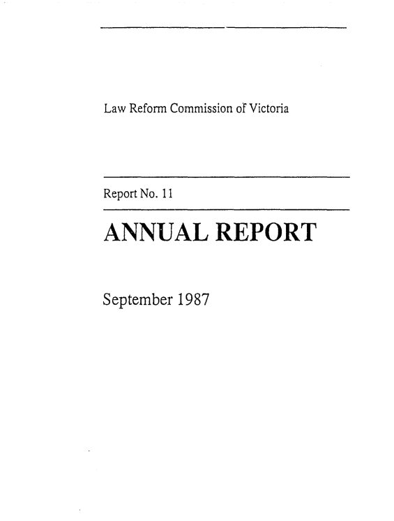handle is hein.alrc/anrptsep0001 and id is 1 raw text is: Law Reform Commission or Victoria