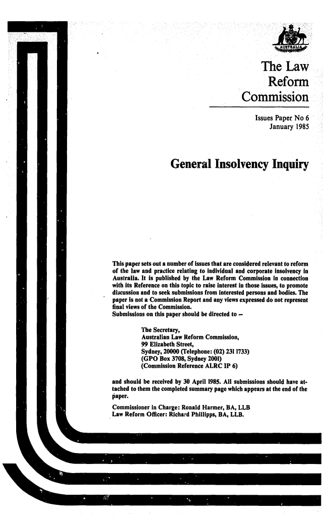 handle is hein.alrc/geninin0001 and id is 1 raw text is: The Law