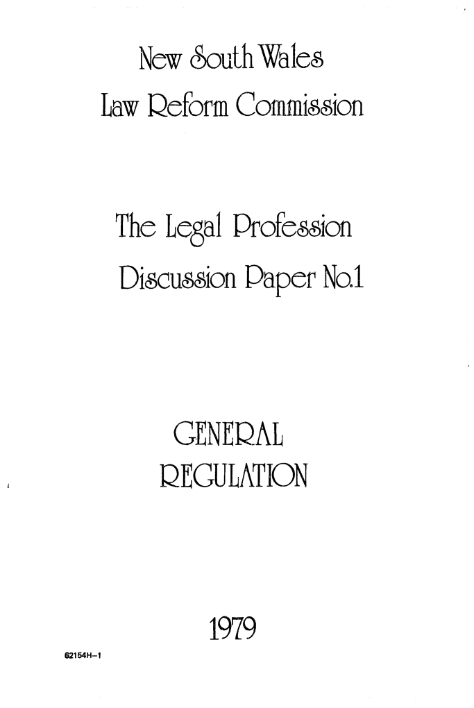 handle is hein.alrc/genregul0001 and id is 1 raw text is:    New eouth Wales