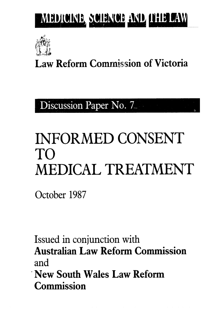 handle is hein.alrc/infcnst0001 and id is 1 raw text is: Law Reform Comrnission of Victoria