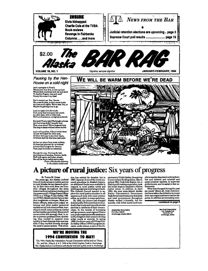 Alaska Bar Rag V. 18 on