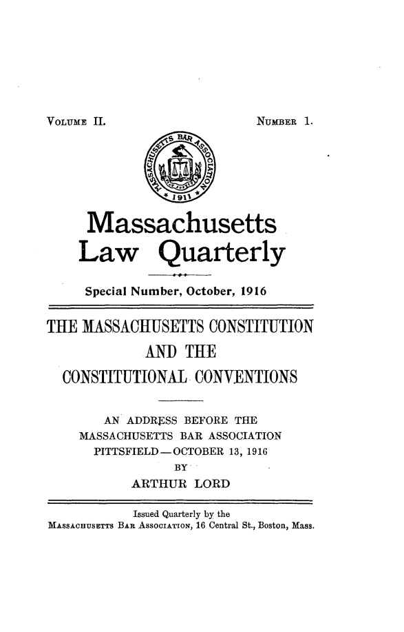 handle is hein.barjournals/malr0002 and id is 1 raw text is: VOLUME II.