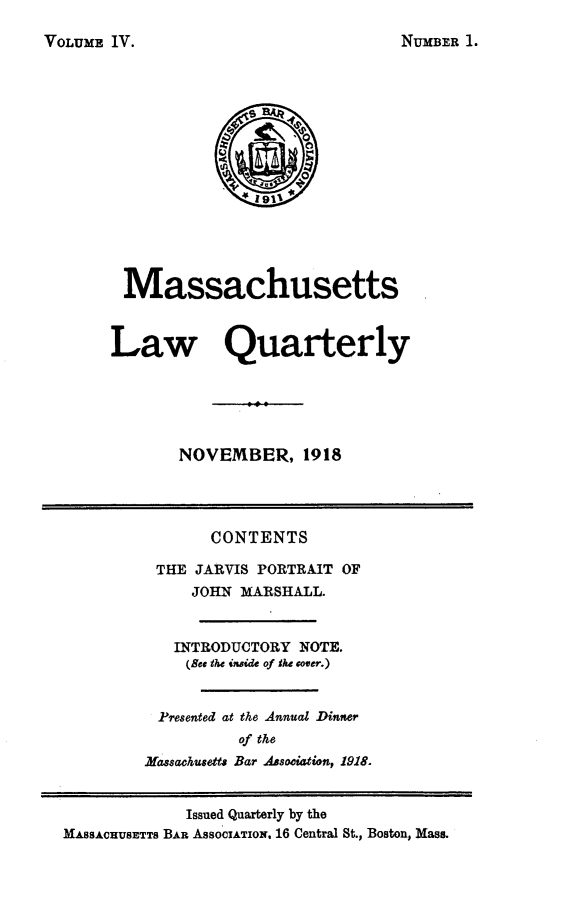 handle is hein.barjournals/malr0004 and id is 1 raw text is: VOLUME IV.