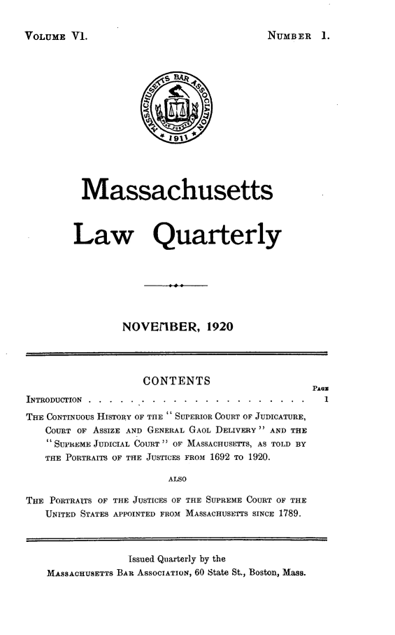 handle is hein.barjournals/malr0006 and id is 1 raw text is: VOLUME V1.
