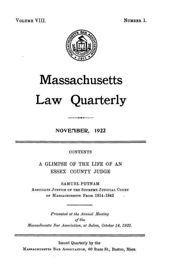 handle is hein.barjournals/malr0008 and id is 1 raw text is: VOLUME VIII.