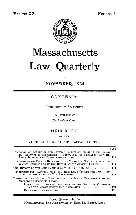 handle is hein.barjournals/malr0020 and id is 1 raw text is: VOLUME XX.