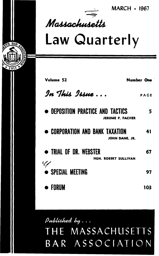 handle is hein.barjournals/malr0052 and id is 1 raw text is: MARCH � 1967