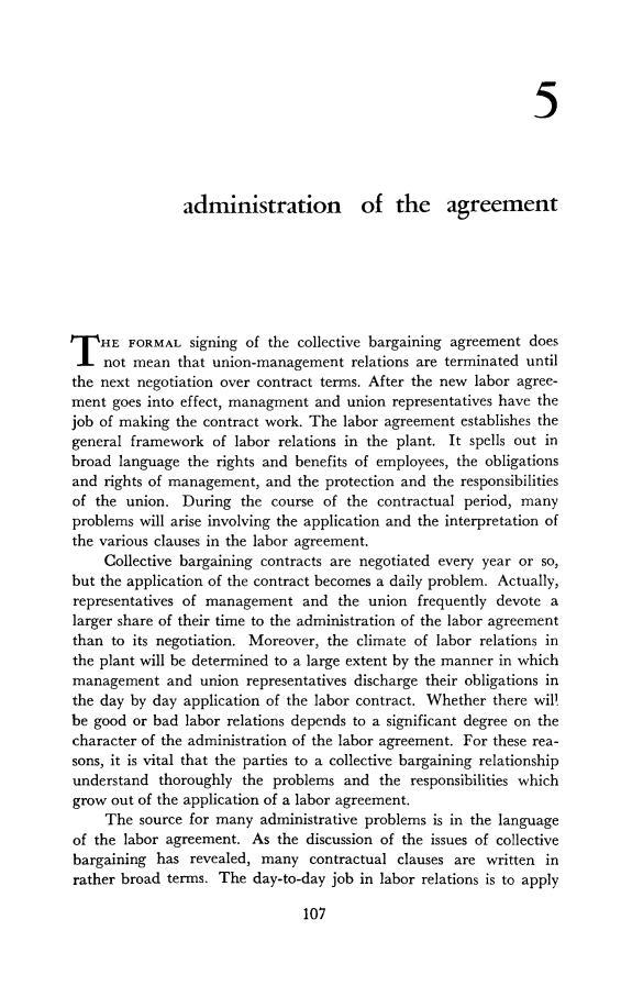 1 Collective Bargaining Agreement Its Negotiation And