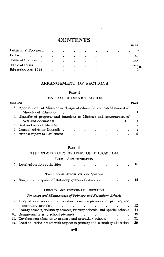 1 Education Act 1944, with Explanatory Notes 1944