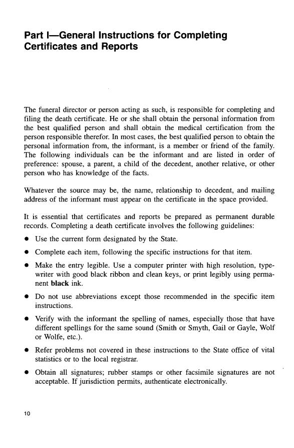 1 Funeral Directors Handbook On Death Registration And Fetal Death