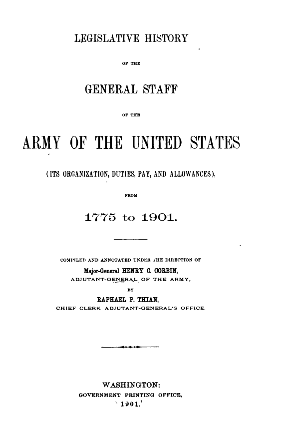 handle is hein.beal/lgshstgnrlstf0001 and id is 1 raw text is: LEGISLATIVE HISTORY