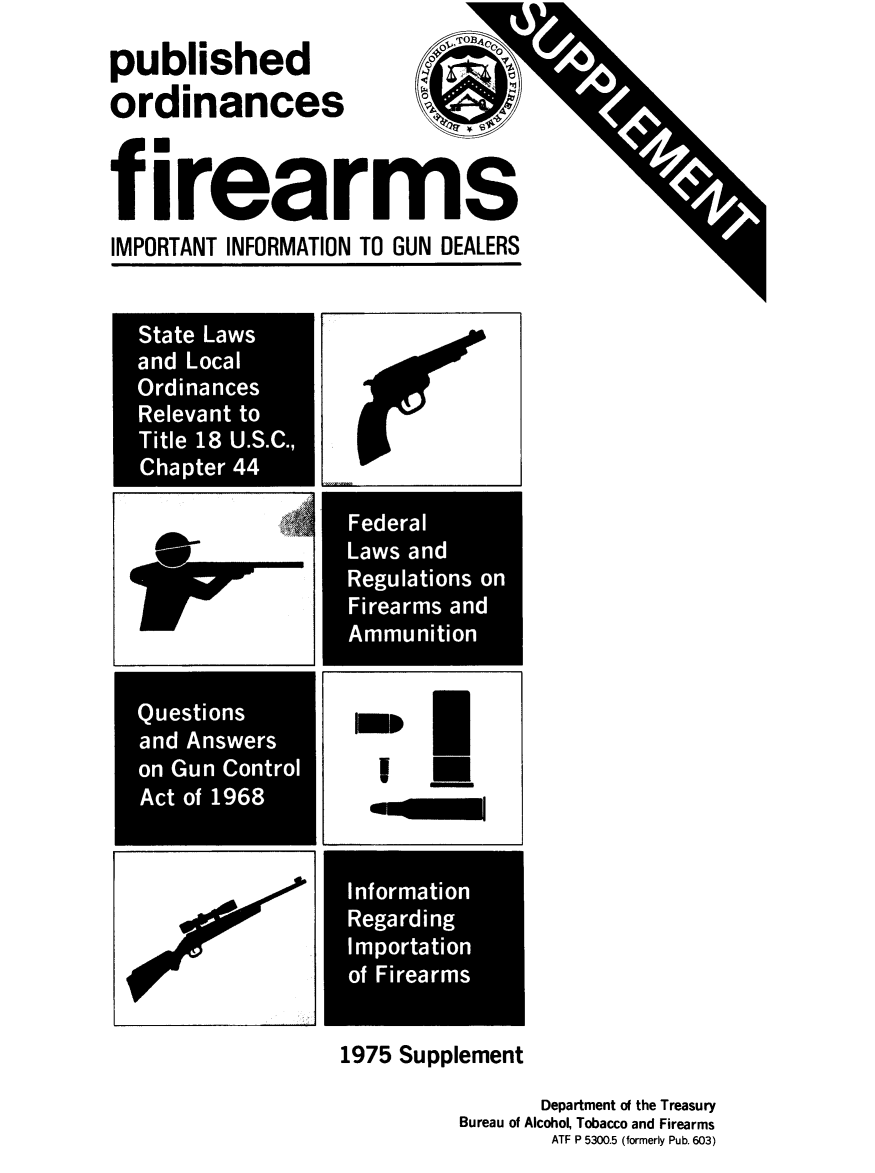Published Ordinances, Firearms: Important Information to Gun