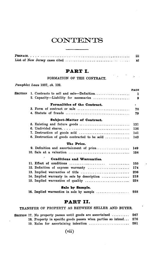 1 sales act (pamphlet laws, 1907, ch. 132.) of new jersey: complete