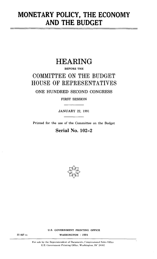 handle is hein.cbhear/mpecb0001 and id is 1 raw text is: MONETARY POLICY, THE ECONOMY