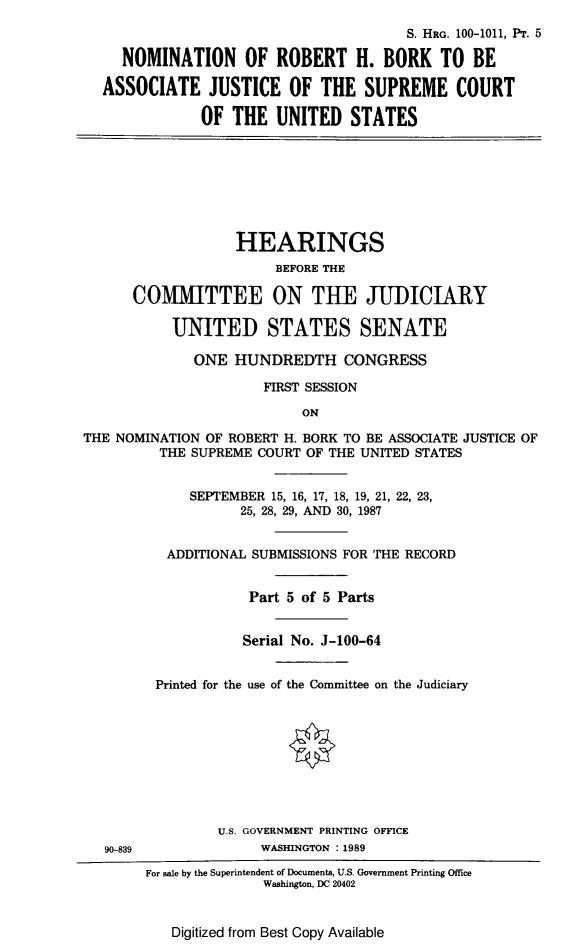 handle is hein.cbhear/nominbork0001 and id is 1 raw text is: S. HRG. 100-1011, PT. 5