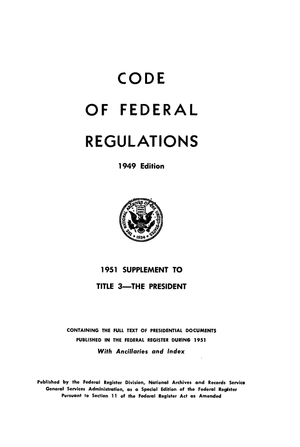 handle is hein.cfr/cfr1951003 and id is 1 raw text is: CODE