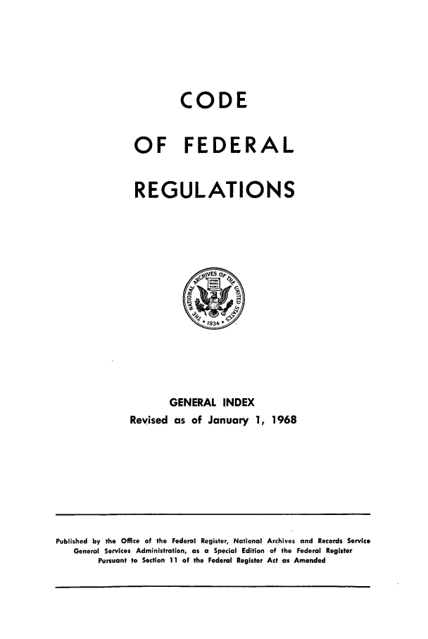 handle is hein.cfr/cfr1968001 and id is 1 raw text is: CODE