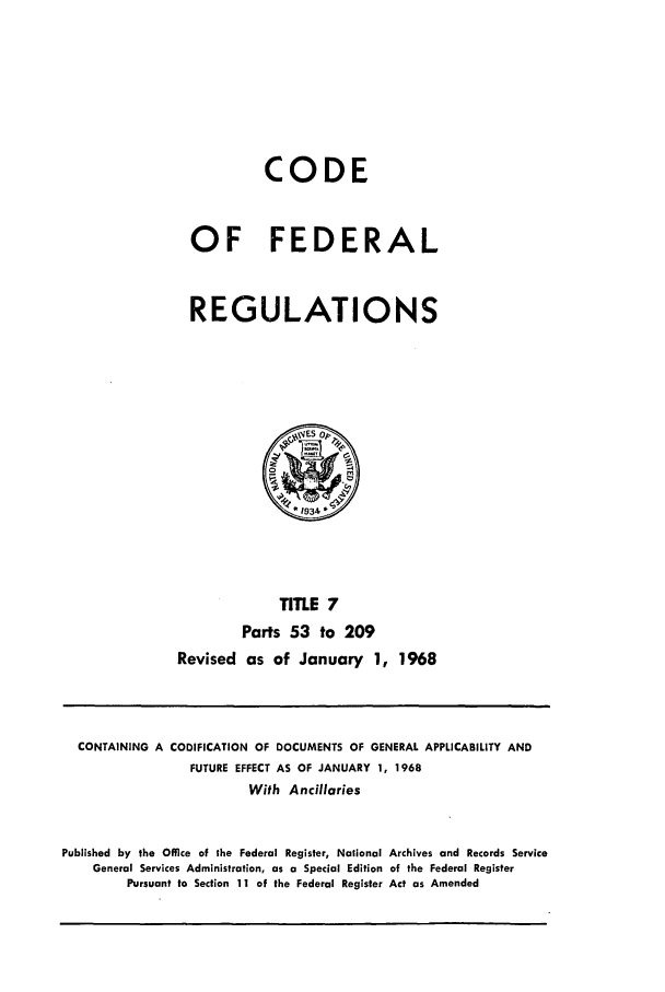 handle is hein.cfr/cfr1968007 and id is 1 raw text is: CODE