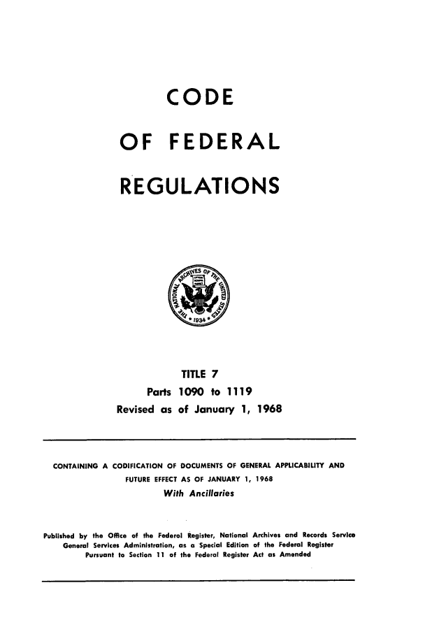 handle is hein.cfr/cfr1968017 and id is 1 raw text is: CODE