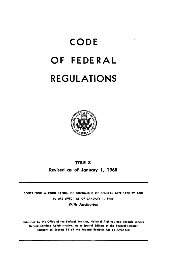 handle is hein.cfr/cfr1968021 and id is 1 raw text is: CODE