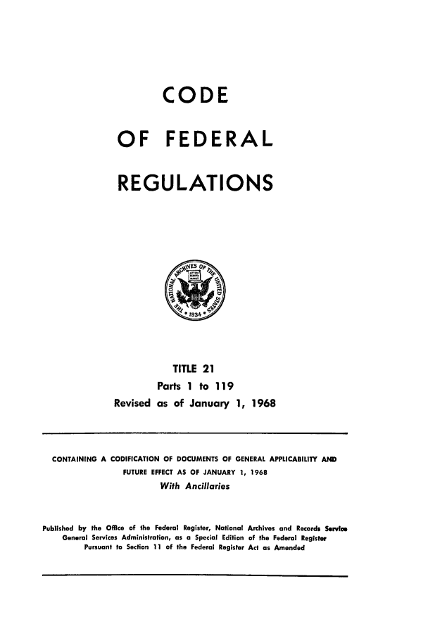 handle is hein.cfr/cfr1968036 and id is 1 raw text is: CODE