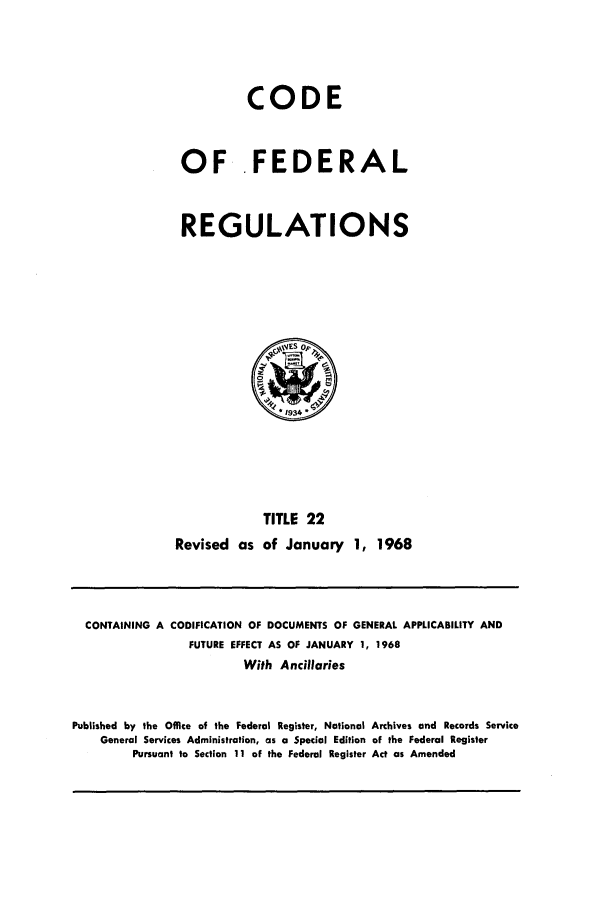 handle is hein.cfr/cfr1968040 and id is 1 raw text is: CODE