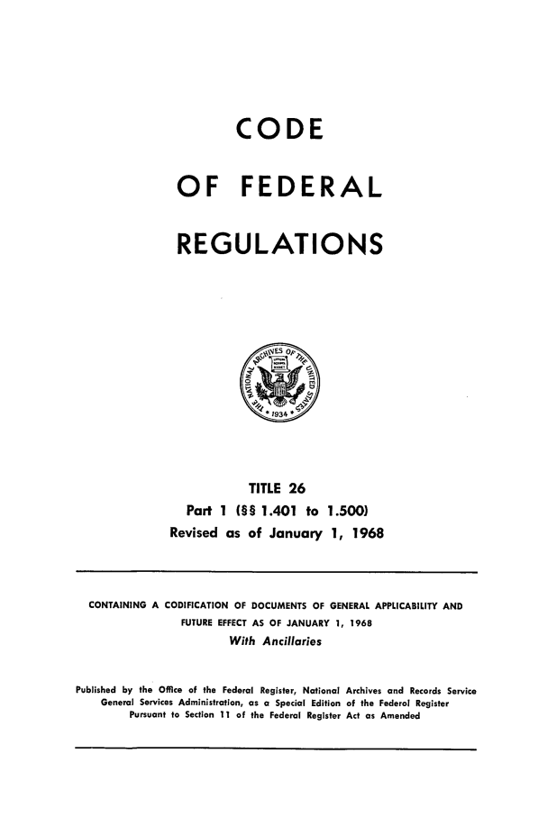 handle is hein.cfr/cfr1968046 and id is 1 raw text is: CODE