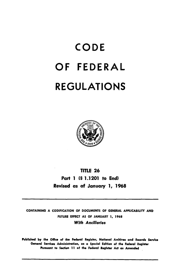 handle is hein.cfr/cfr1968050 and id is 1 raw text is: CODE