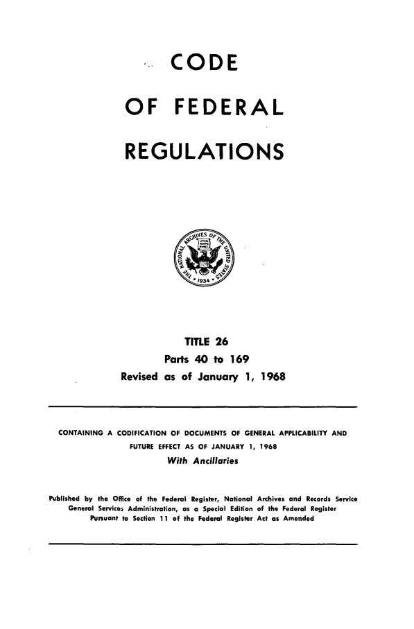 handle is hein.cfr/cfr1968053 and id is 1 raw text is: CODE