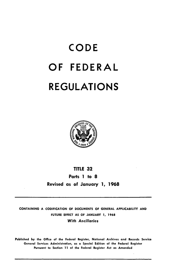 handle is hein.cfr/cfr1968065 and id is 1 raw text is: CODE