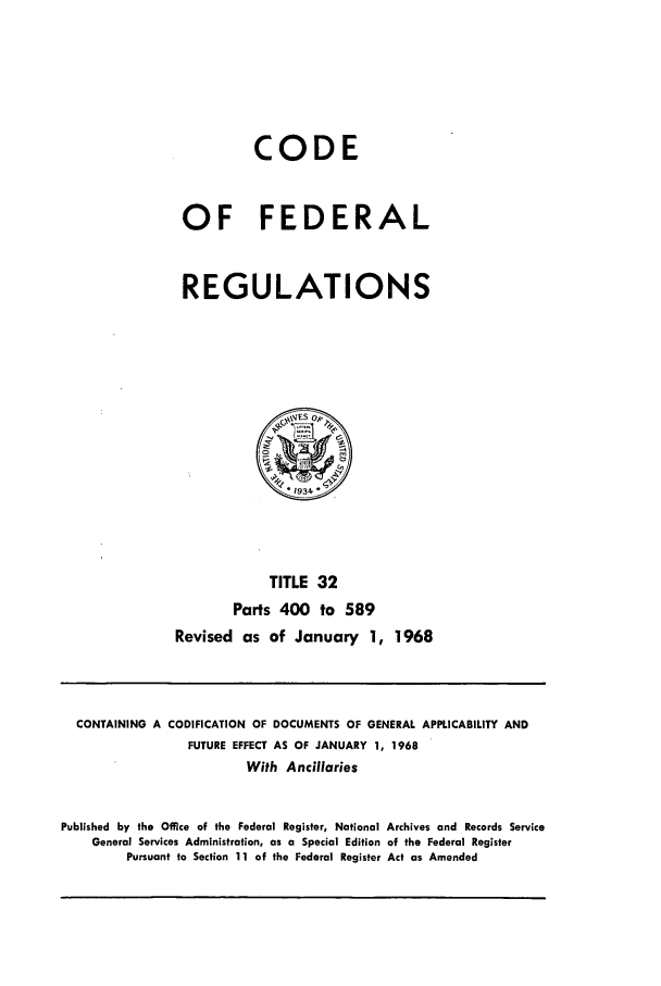 handle is hein.cfr/cfr1968068 and id is 1 raw text is: CODE