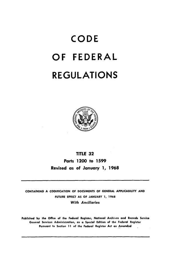 handle is hein.cfr/cfr1968073 and id is 1 raw text is: CODE