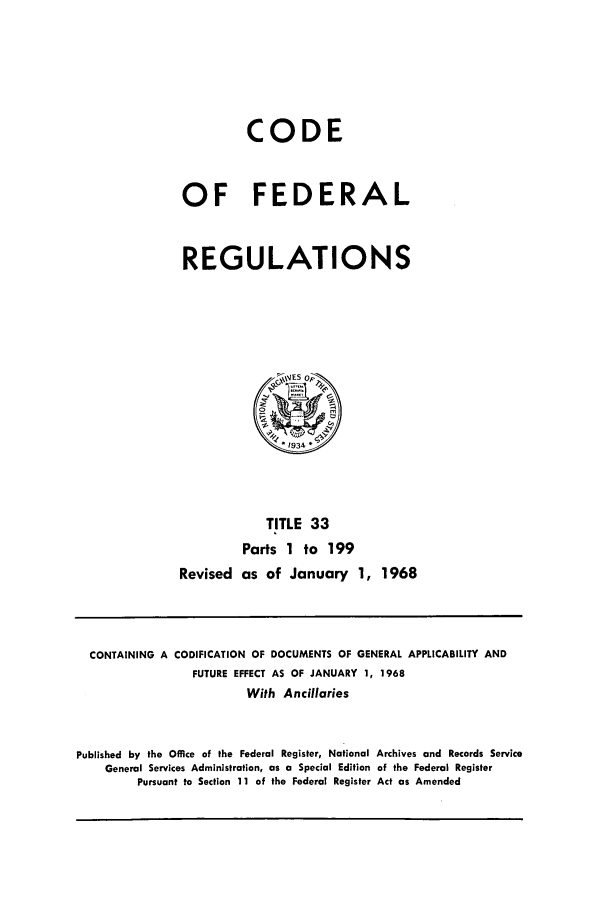 handle is hein.cfr/cfr1968076 and id is 1 raw text is: CODE