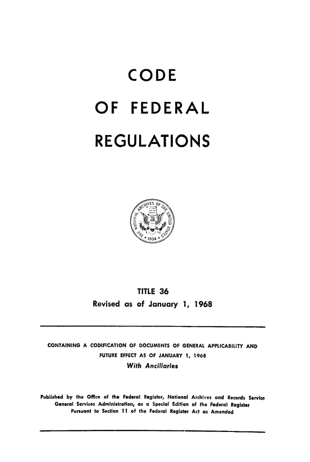 handle is hein.cfr/cfr1968078 and id is 1 raw text is: CODE