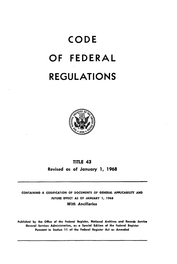 handle is hein.cfr/cfr1968089 and id is 1 raw text is: CODE