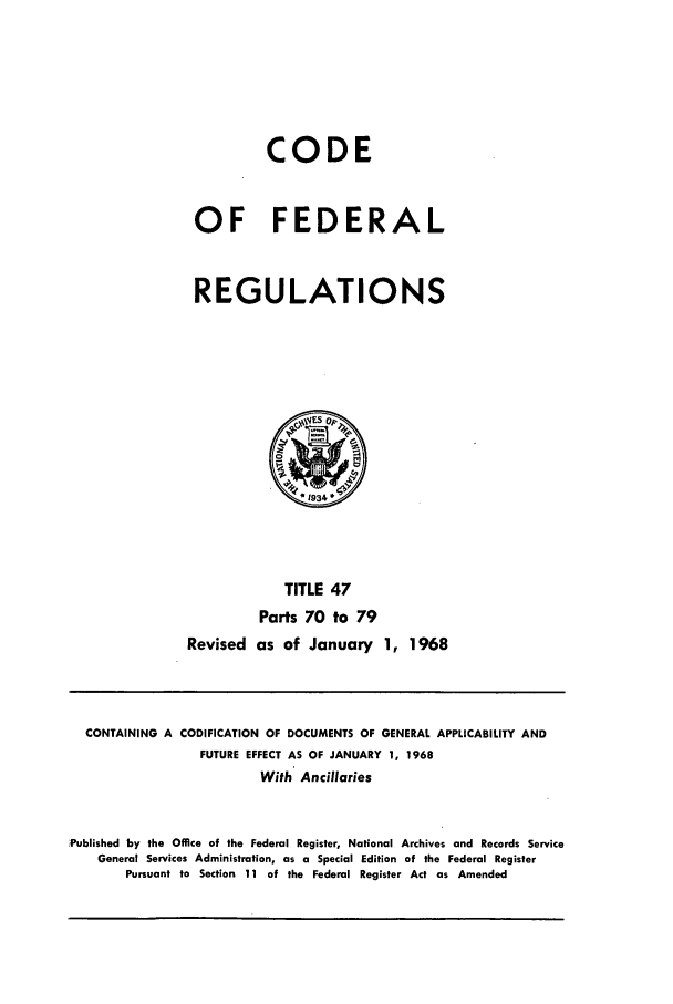 handle is hein.cfr/cfr1968099 and id is 1 raw text is: CODE