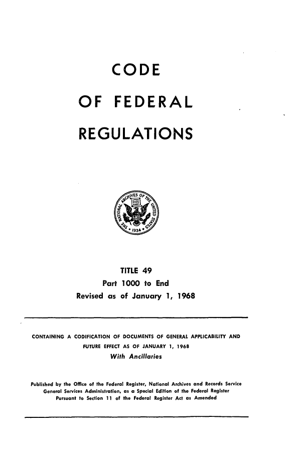 handle is hein.cfr/cfr1968104 and id is 1 raw text is: CODE
