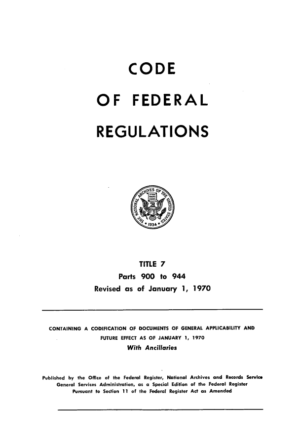handle is hein.cfr/cfr1970012 and id is 1 raw text is: CODE