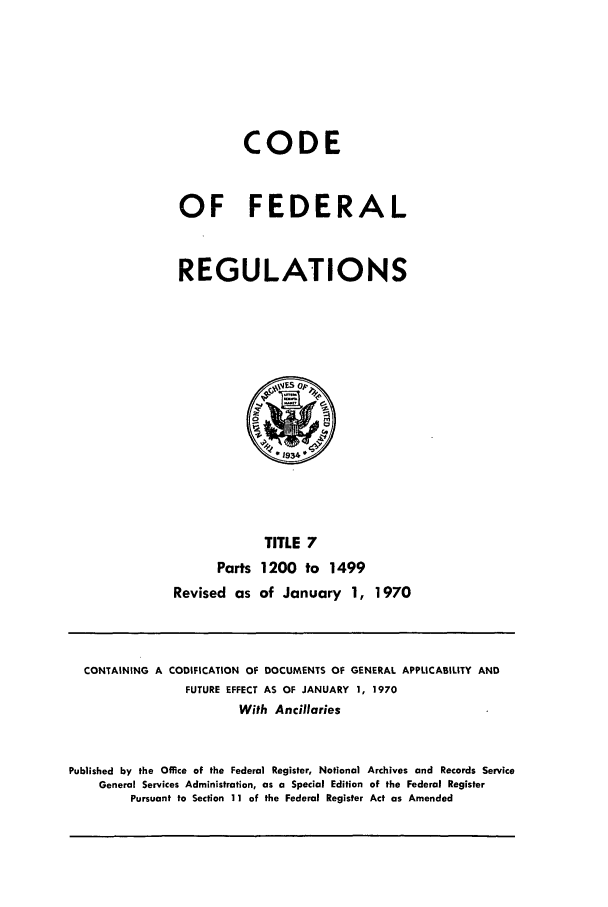 handle is hein.cfr/cfr1970020 and id is 1 raw text is: CODE