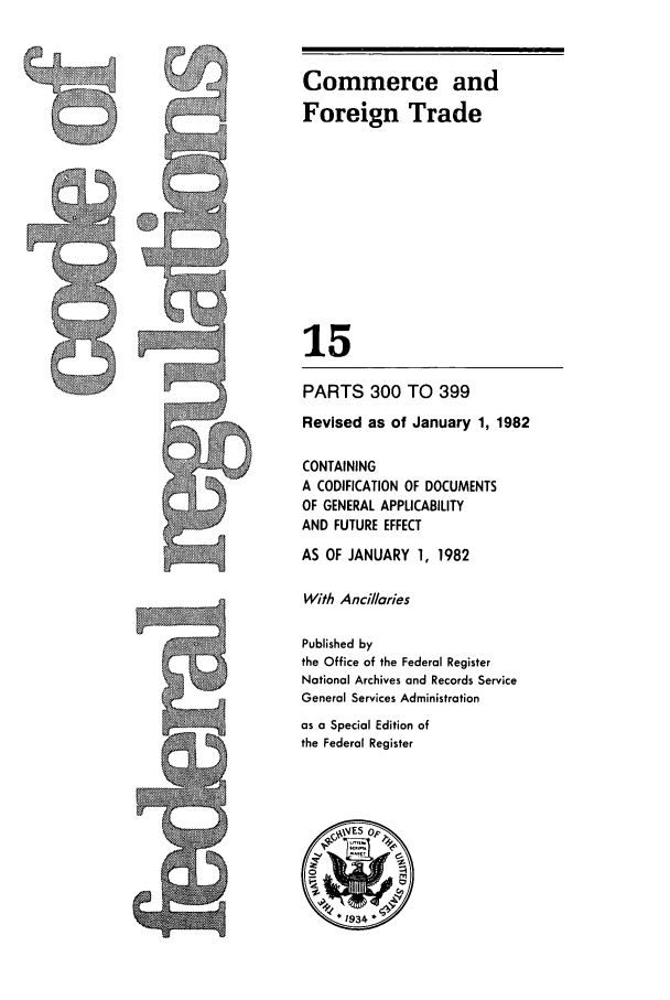 handle is hein.cfr/cfr1982042 and id is 1 raw text is: Commerce and