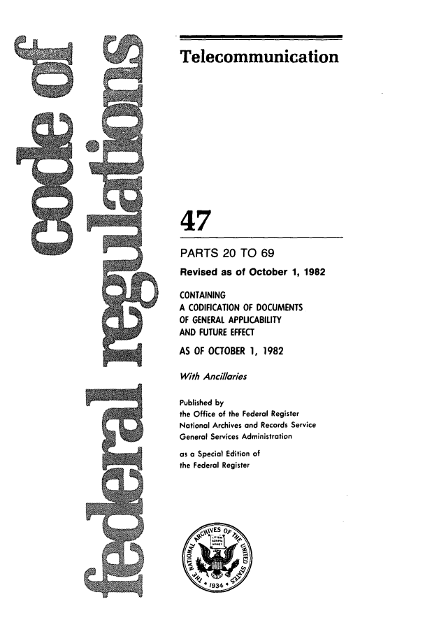 handle is hein.cfr/cfr1982165 and id is 1 raw text is: Telecommunication