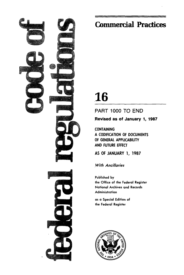 handle is hein.cfr/cfr1987045 and id is 1 raw text is: Commercial Practices