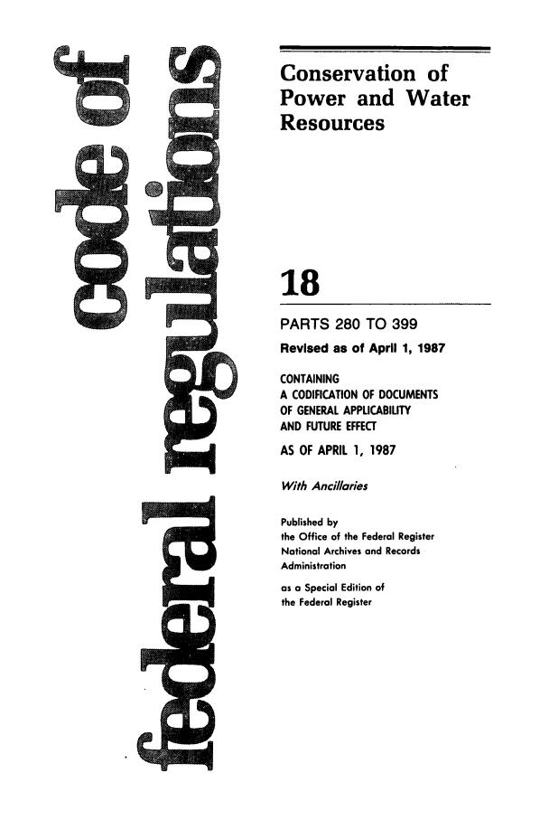 handle is hein.cfr/cfr1987051 and id is 1 raw text is: Conservation of