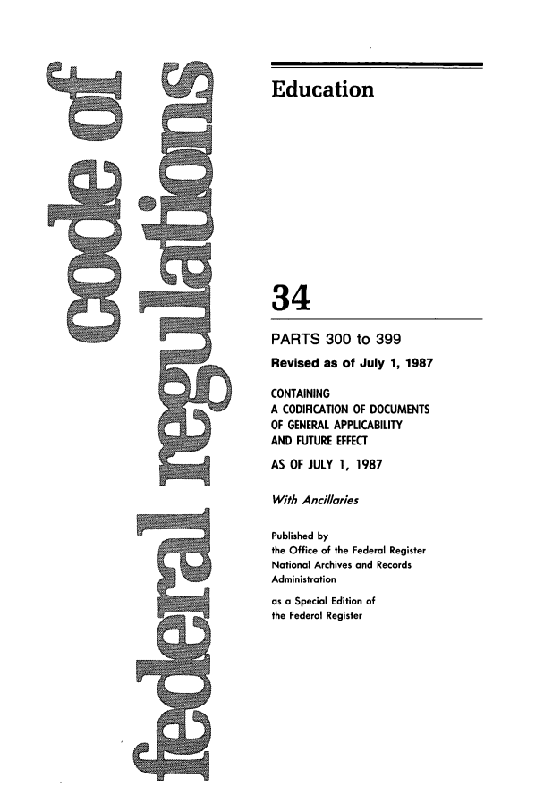 handle is hein.cfr/cfr1987118 and id is 1 raw text is: Education