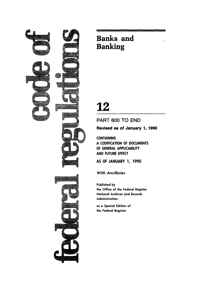 handle is hein.cfr/cfr1990040 and id is 1 raw text is: Banks and